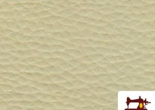 Comprar tela de polipiel color blanco-crudo