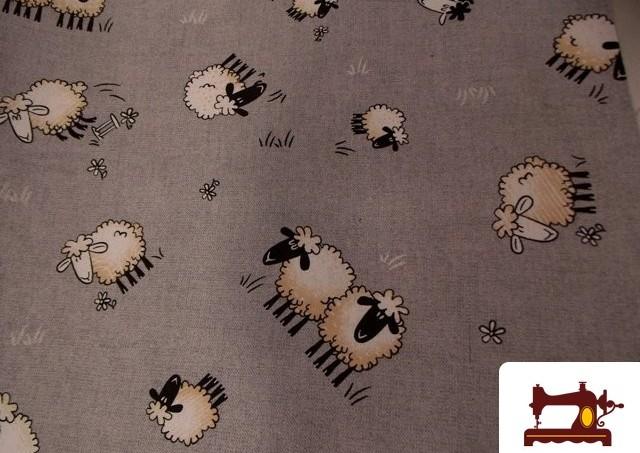 Comprar tela de decoración estampada con ovejas