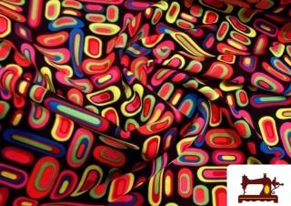 Comprar tela retro estampada fluor multicolor