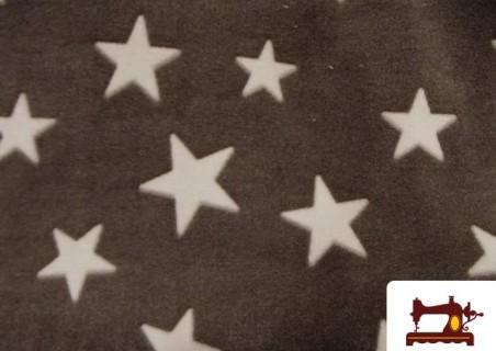 Comprar tela Minky  Coralina  de estrellas tejidas