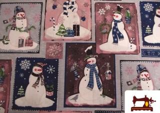 Comprar telas Navideñas con Muñecos de Nieve