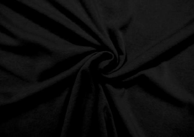 Tela de Sudadera Flannel Lisa de Colores color Negro