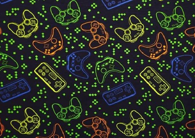 Punto de Camiseta Videojuegos Colores Flúor