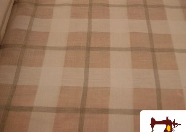 Comprar tela para cortinas de visillo beige a cuadros - Comprar tela cortinas ...
