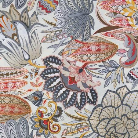 Venta de Tela de Loneta Estampado Flor de Loto