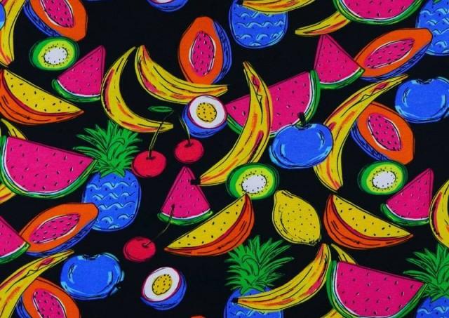 Comprar online Tela de Punto de Camiseta Frutas Tropicales