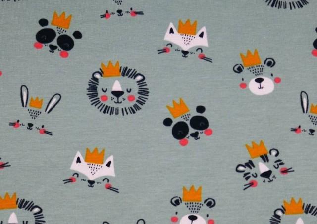 Comprar online Tela de Punto de Camiseta Reyes y Reinas de La Selva
