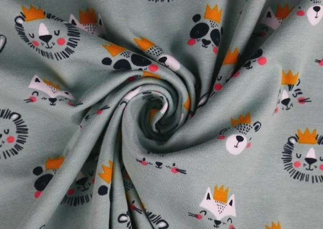 Venta online de Tela de Punto de Camiseta Reyes y Reinas de La Selva