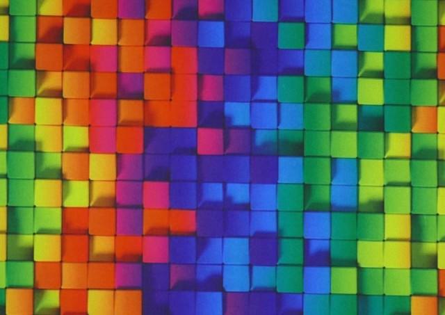 Comprar online Tela de SOFTSHELL estampado Cuadros Multicolor