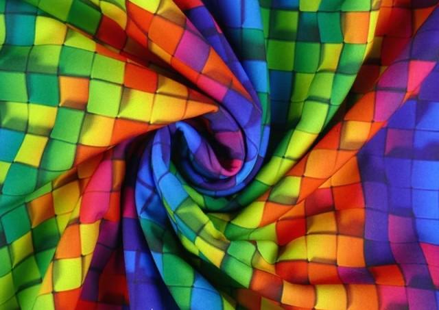 Venta online de Tela de SOFTSHELL estampado Cuadros Multicolor