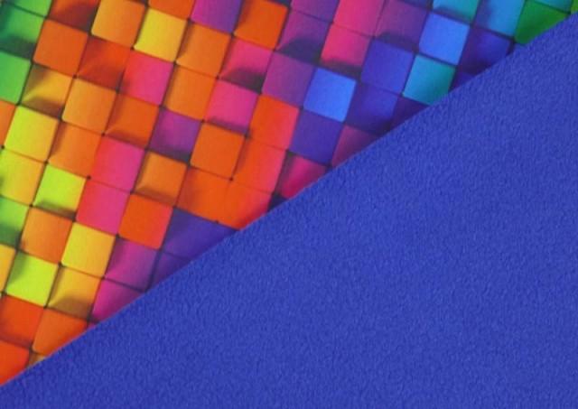 Tela de SOFTSHELL estampado Cuadros Multicolor