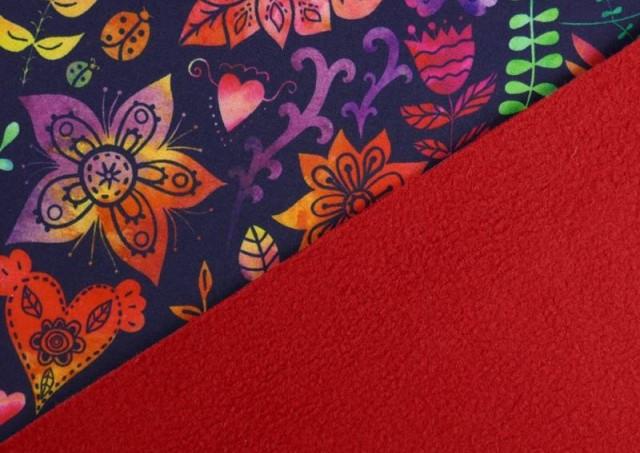 Venta online de Tela de SOFTSHELL estampado Pájaros Multicolor