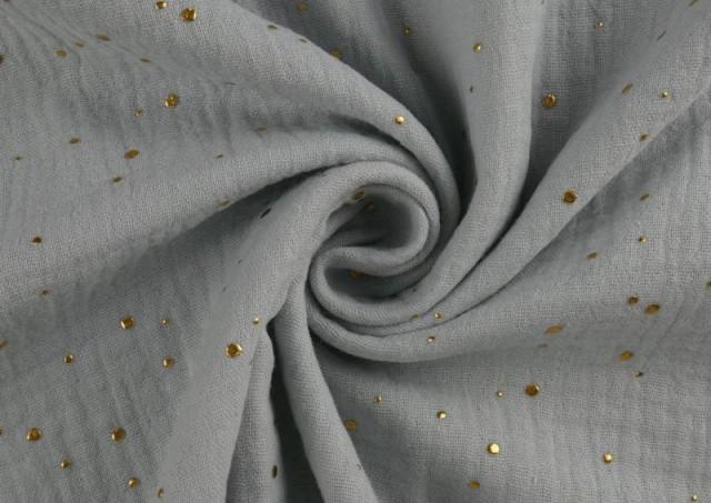 Venta de Tela de Muselina Puntitos Brilli Brilli color Gris claro