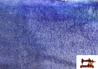 Tela de Pelo corto Azul Electrico