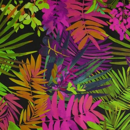 Venta de Tela de Crepé Estampado Tropical