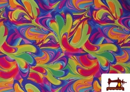 Tela Lycra Estampada de Colores