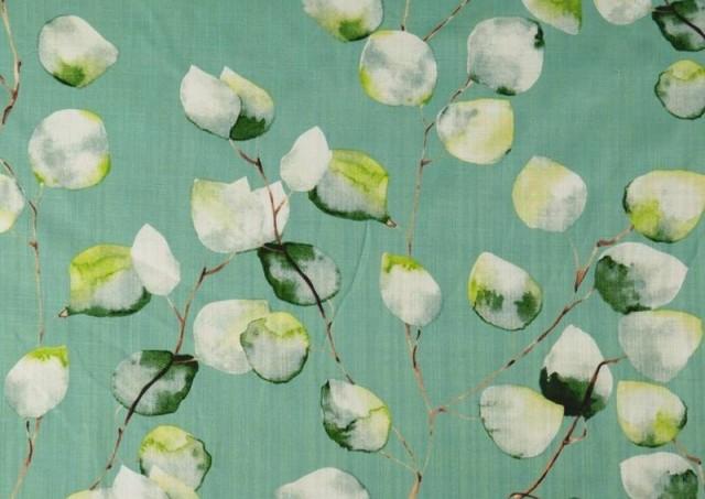 Comprar Tela de Lino de Algodón Estampado color Verde