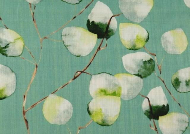 Venta de Tela de Lino de Algodón Estampado color Verde