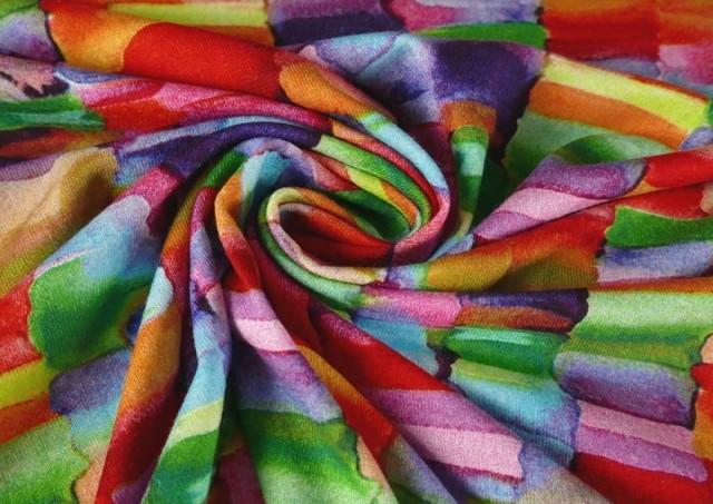 Comprar online Punto de Viscosa Recuadros De Colores