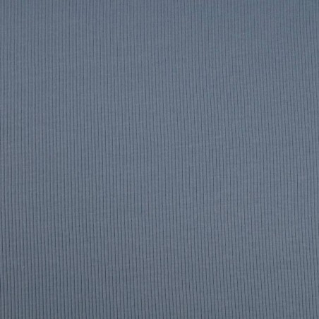 Tela de Tricot Punto Canalé - Jersey de Verano color Azul