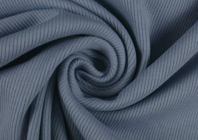 Venta de Tela de Tricot Punto Canalé - Jersey de Verano color Azul