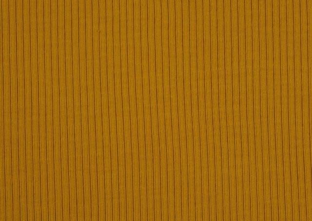 Tela de Tricot Punto Canalé - Jersey de Verano color Mostaza