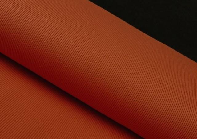 Comprar Tela de Tricot Punto Canalé - Jersey de Verano color Teja