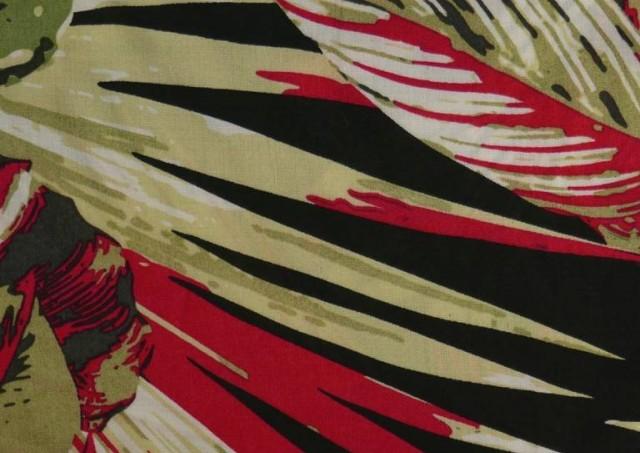 Venta de Tela de Viscosa Tropical Roja