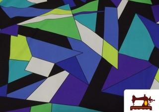 Tela de Licra Estampado Geometrico colores Fluor