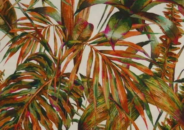 Comprar Tela Crespón con Lycra Tropical color Naranja