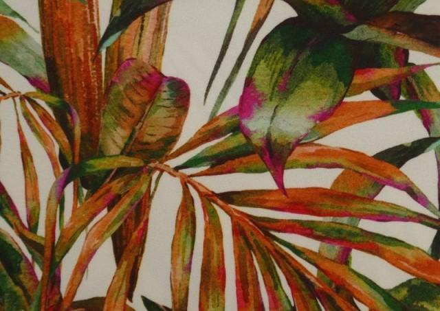 Venta de Tela Crespón con Lycra Tropical color Naranja