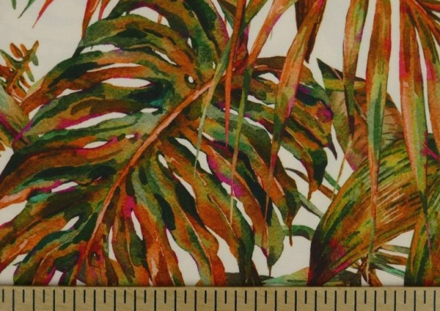 Comprar online Tela Crespón con Lycra Tropical color Naranja