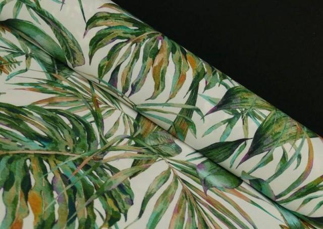 Tela Crespón con Lycra Tropical color Verde