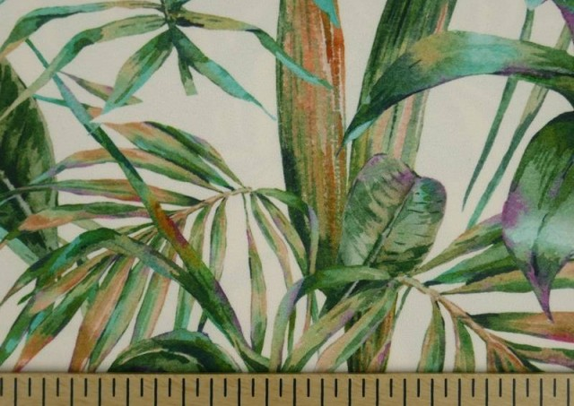 Venta de Tela Crespón con Lycra Tropical color Verde
