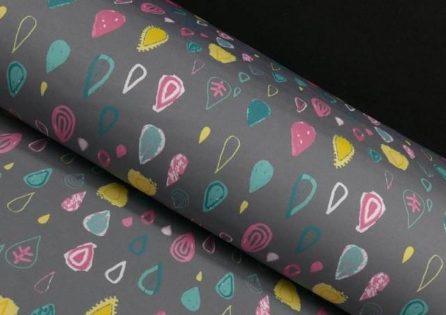 Tela de Softshell Estampado Gotas de Colores
