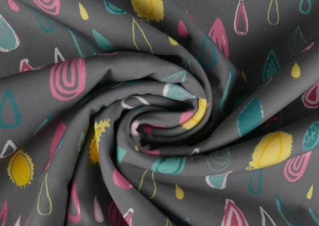Venta online de Tela de Softshell Estampado Gotas de Colores