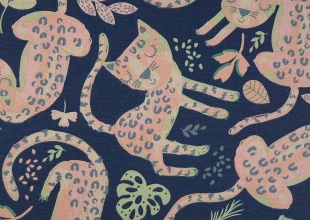 Venta de Tela de Punto Sudadera Gatos de Colores