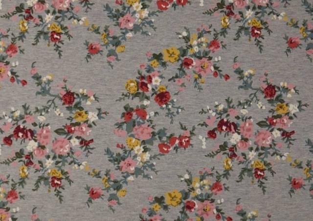 Comprar Tela de Sudadera Invierno Flores Románticas