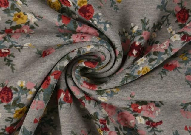 Venta online de Tela de Sudadera Invierno Flores Románticas