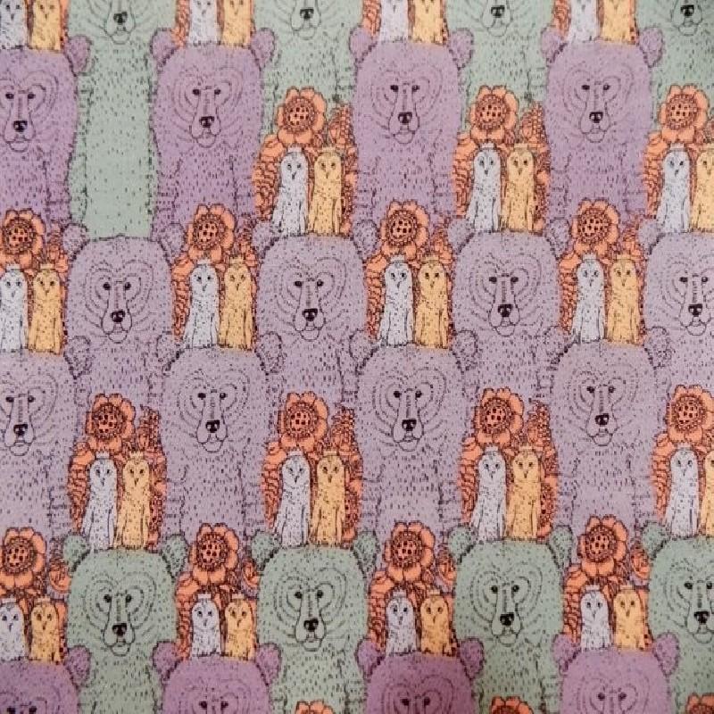 Tela de algodón con Dibujos Infantiles