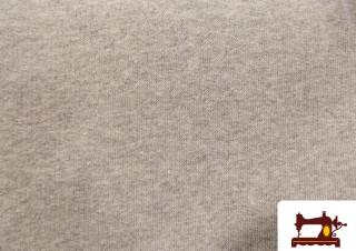 Tela de Camiseta de Color Gris Claro