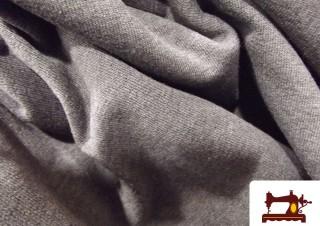 Comprar tela de punto camiseta gris oscuro