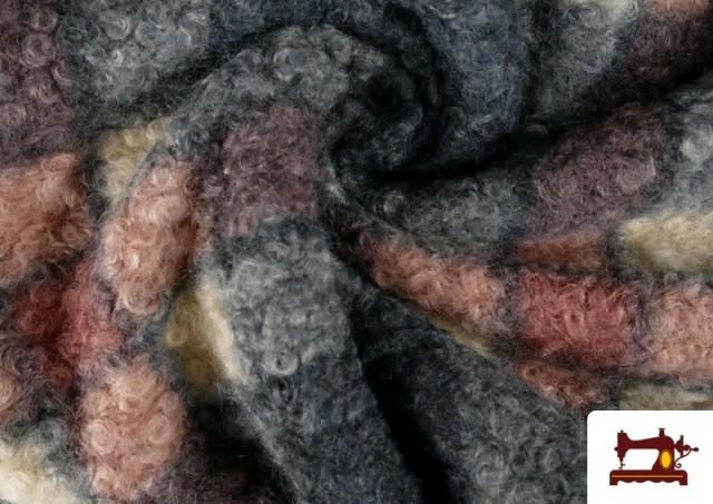 Tela Baguilla Curly Rizado Cuadros Clásicos