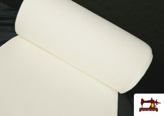 Tela de Puño Canale de Colores color Blanco