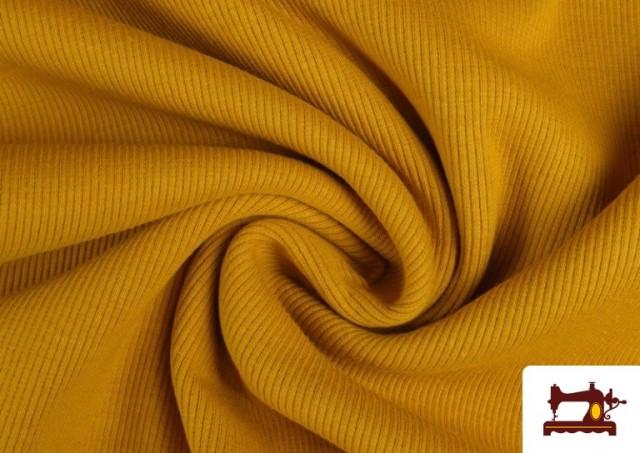 Venta de Tela de Puño Canale de Colores color Mostaza