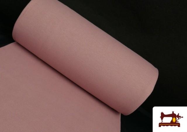 Comprar online Tela de Puño Canale de Colores color Rosa pálido