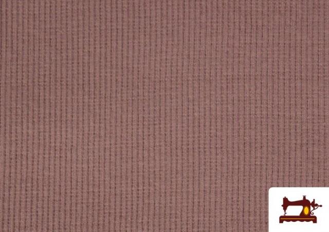 Venta online de Tela de Puño Canale de Colores color Rosa pálido