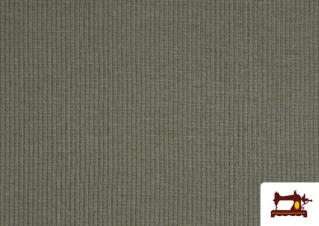 Venta de Tela de Puño Canale de Colores color Gris