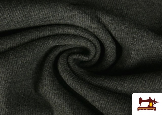 Tela de Puño Canale de Colores color Gris oscuro