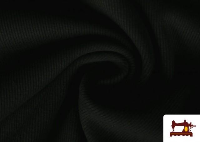 Venta de Tela de Puño Canale de Colores color Negro